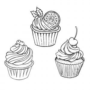 Cupcakes And Cakes Free Printable Coloring Pages For Kids Cupcake Drawing Cupcake Coloring Pages Coloring Pages