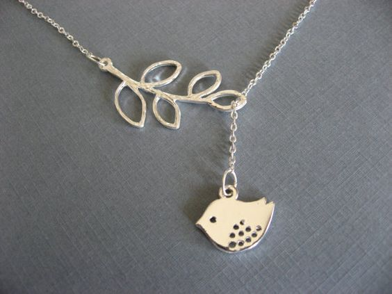 SHOP SALE Lariat Style Bird and BranchNecklace by donnabjewelry, $19.00