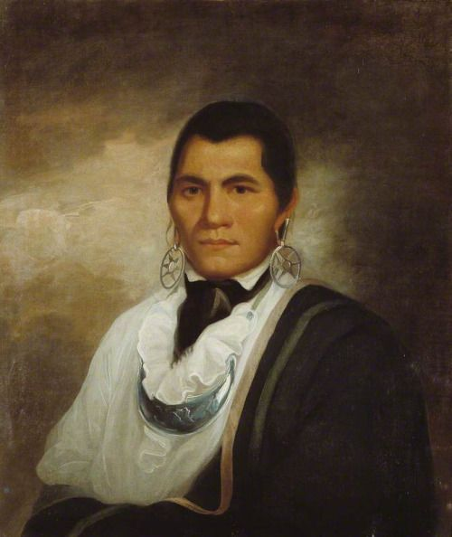 William Hodges Portrait of a Cherokee Man England (c. 1750s) The Hunterian Museum: