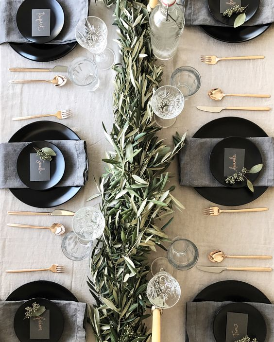 Festive table setting: