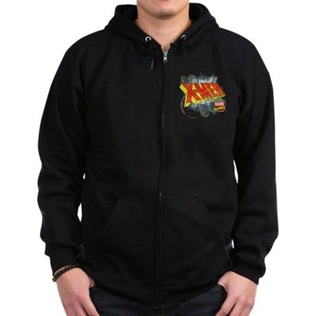 Classic X Men Zip Hoodie (dark) #Ad Hanes#blend#Drawstring