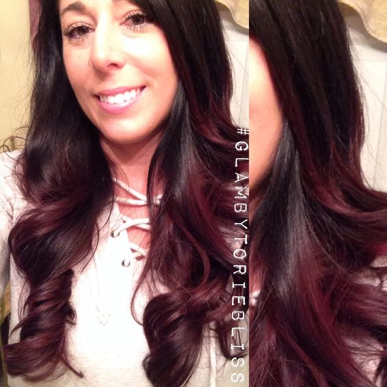 Rotweine wein and ombr hair on pinterest for Ombre hair haarfarbe