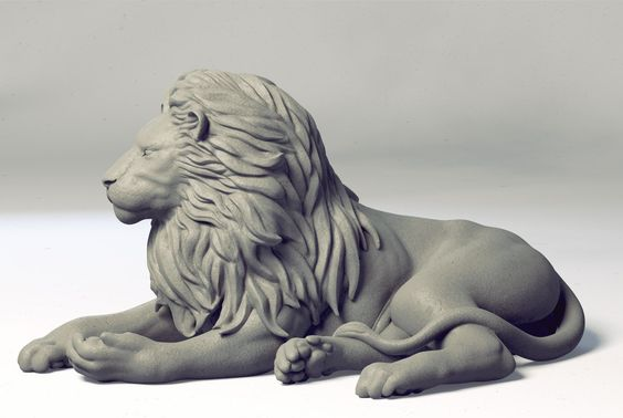 Lion Wip Sculpt., Ashish Parashar on ArtStation at https://www.artstation.com/artwork/lion-wip-sculpt