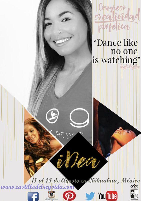 """""""Dance like no one is watching"""" Argelis Capellan Hola soy Argelis lista para ir a #iDea se que viviremos un tiempo especial en Dios, algo grande y único hay para México.  Te esperamos!!! """"Danza como si nadie estuviera viendo"""" Argelis Capellan  #iDea #tiempounico #adoracionsinlimites #disenosdelcielo #haymasparaelquequiere  Planes y costos aquí: http://www.congresoidea.com/planes-costos-de-pago/"""