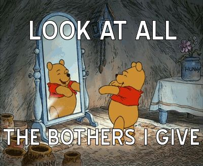 Pooh doesn't give a bother.