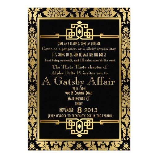 Gatsby Invitation with beautiful invitation ideas