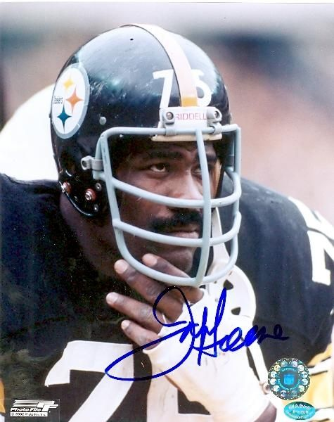 "Defensive Tackle (1969-81) Elected: 1987 Leader of the ""Steel Curtain"" defense during the 1970s, Joe Greene dominated the NFL www.kingsofsports.com"