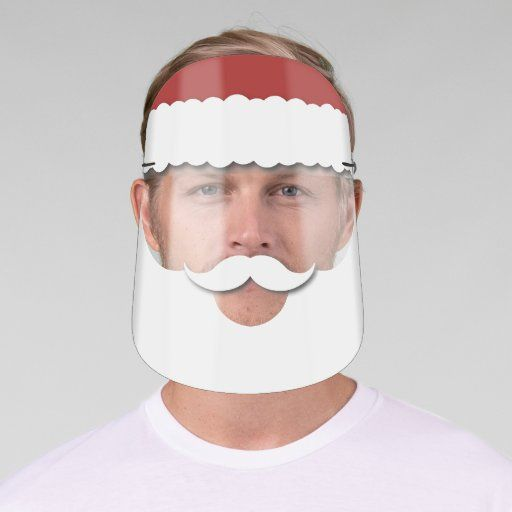 2020 White Swan Handmade Father Christmas Santa Claus Beard Christmas Face Shield | Zazzle.in 2020