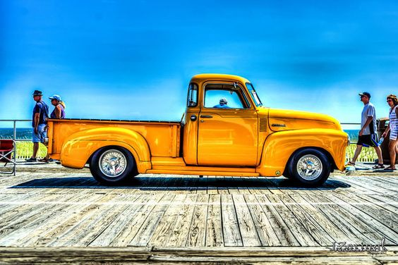 1950 Chevy Truck Yellow Print by Joshua Zaring.  All prints are professionally…