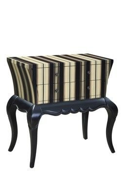 Stripes painted furniture pinterest accent tables - Painting stripes on furniture ...