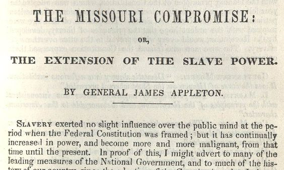 the missouri compromise was an example of the extension of slavery  the missouri compromise was an example of the extension of slavery because new states and territories came more slave land such as missouri