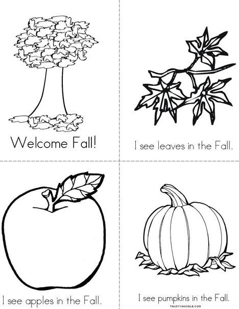 Welcome Fall Mini Book from TwistyNoodle.com   Autumn Coloring ...