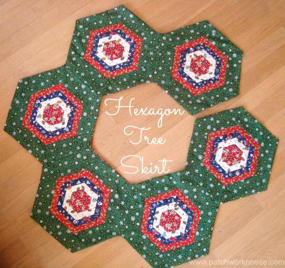 Hexagon Tree Skirt Tutorial |  patchworkposse.com