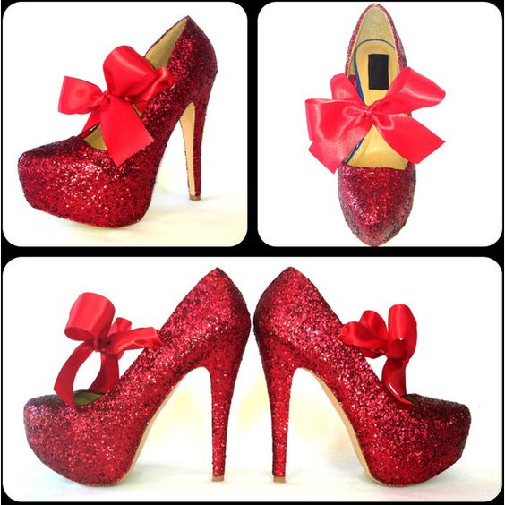Glitter High Heels Red Pumps Scarlet Sparkly Platform Shoes Red ...