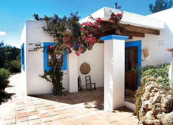 Detalles de ensue o de las casas blancas ibicencas for Casas rusticas con jardin