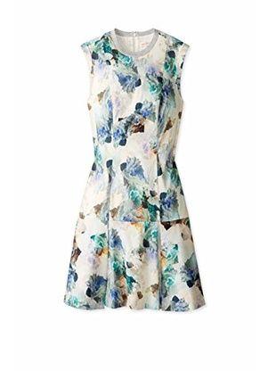 REBECCA TAYLOR Women's Dropwaist Dress (Aqua)