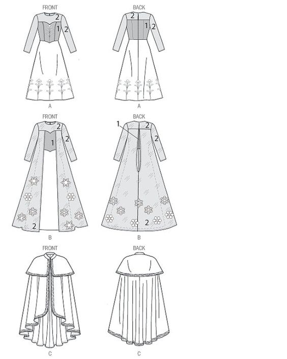 Elsa dress pattern for kids and missses by TootieFruityTutuShop