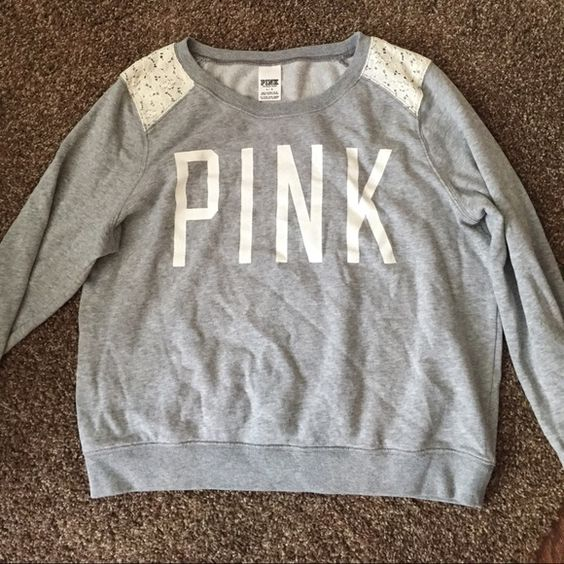 VS love pink pull over Only worn once for a date. Perfect condition! Size medium! Victoria's Secret Tops
