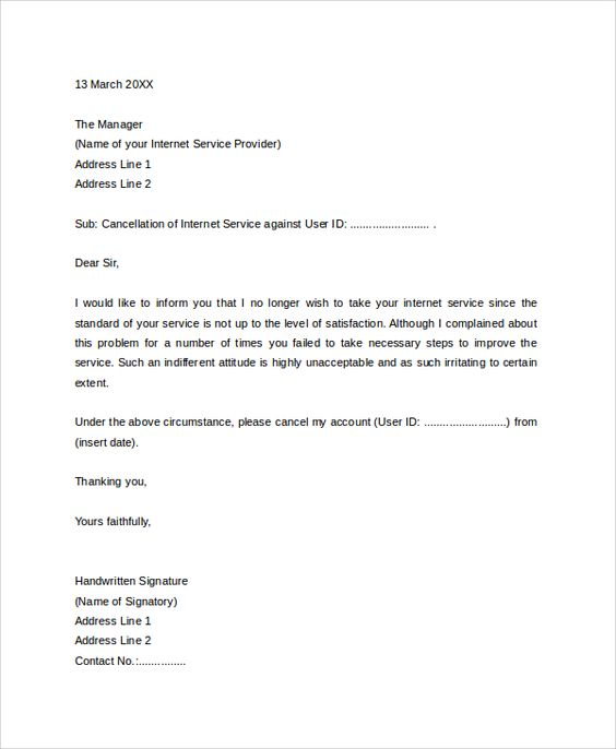 Gym Cancellation Letter Template  BesikEightyCo