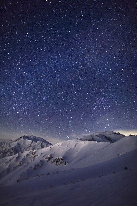 stars mountain night - photo #15