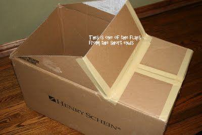 Easy cardboard box car