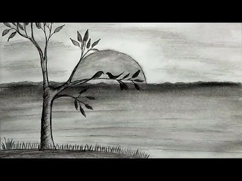 Youtube Drawing Scenery Pencil Drawing Tutorials Scenery Drawing For Kids