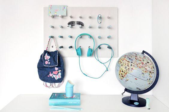 miss red fox - Multitasking Home DIY Peg Board - Mädchenzimmer - Girls room