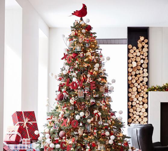 Cardinal Tree Topper Pottery Barn Christmas Tree Big Christmas Tree Unique Christmas Trees
