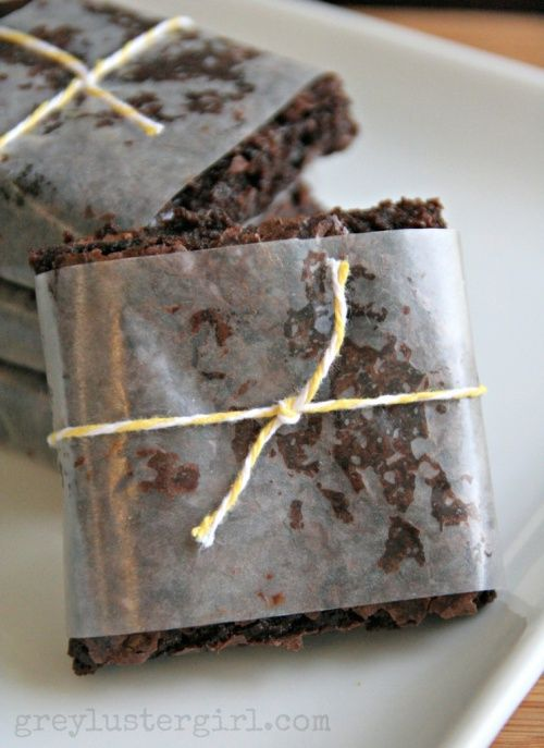 Individually Wrap Brownies For Cute Packaging Diy And