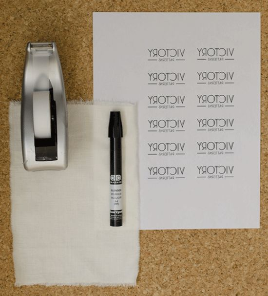 Make your own clothing labels Photocopy of logo or your name in ...
