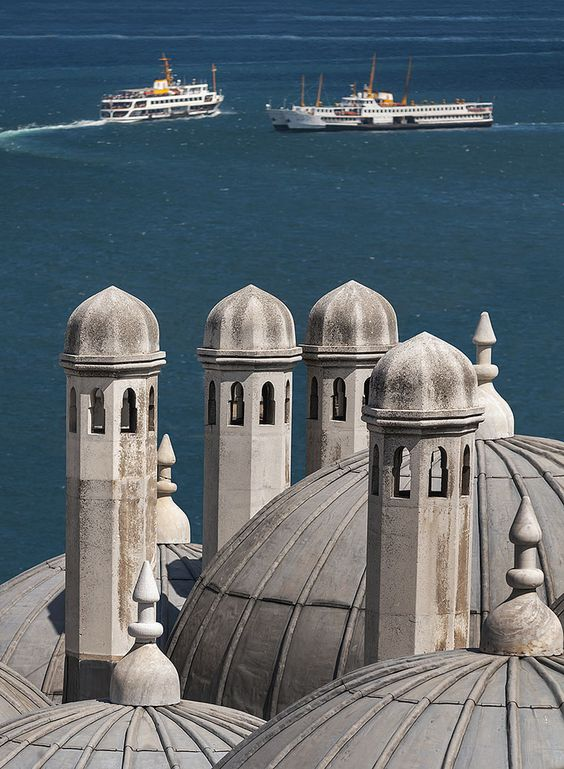 Ottoman imperial mosque located on the Third Hill of Istanbul, Turkey