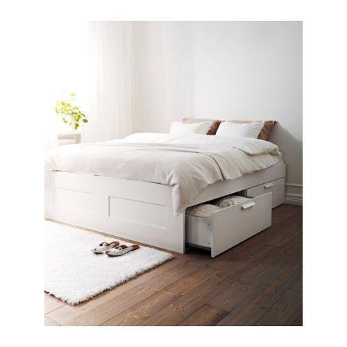 Best Brimnes Bed Frame With Storage White Luröy Ikea Ikea 640 x 480