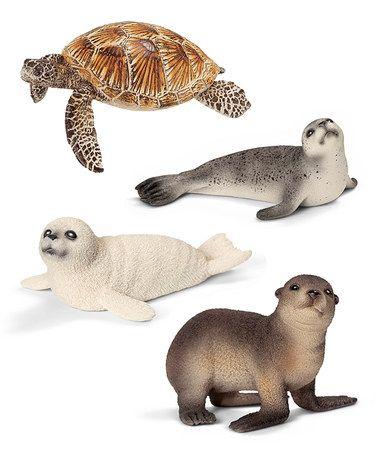 Another great find on #zulily! Sea Creature Figurine Set by Schleich #zulilyfinds
