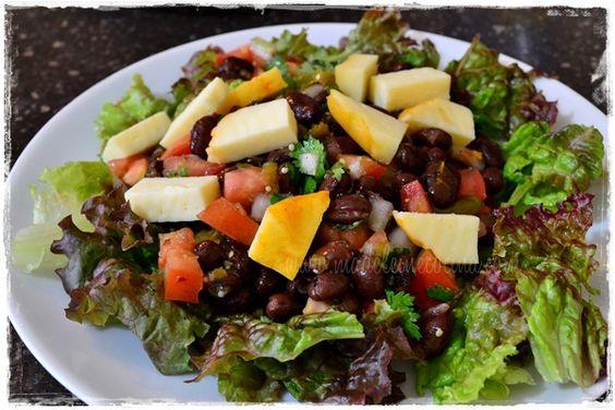 Ensalada vegetariana de arrachera y frijoles ensaladas - Comidas vegetarianas ricas ...