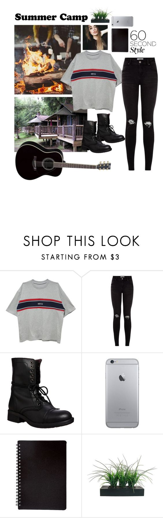"""""""Summer camp"""" by youngsmile ❤ liked on Polyvore featuring Steve Madden, Yamaha, Vintage, summercamp and 60secondstyle"""