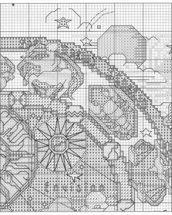 Borduurpatroon Sterrenbeeld Kruissteek *X-Stitch Pattern Zodiac ~Dierenriem *Zodiac 7/8~