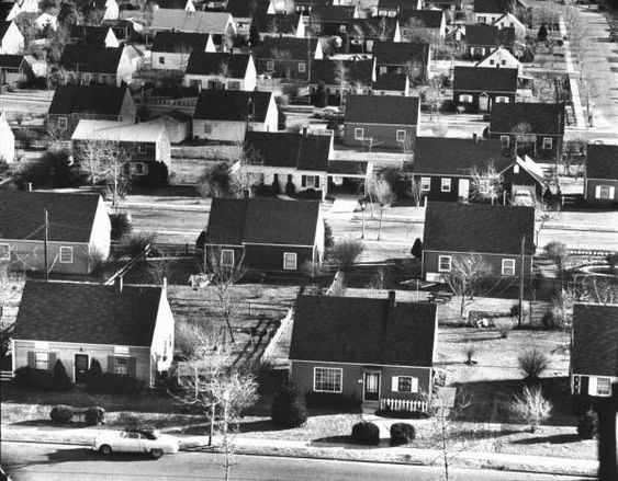 Why were houses in the 1950's knocked down?