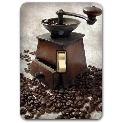 Antique coffee bean machine single metal light switch for Best home decor from amazon