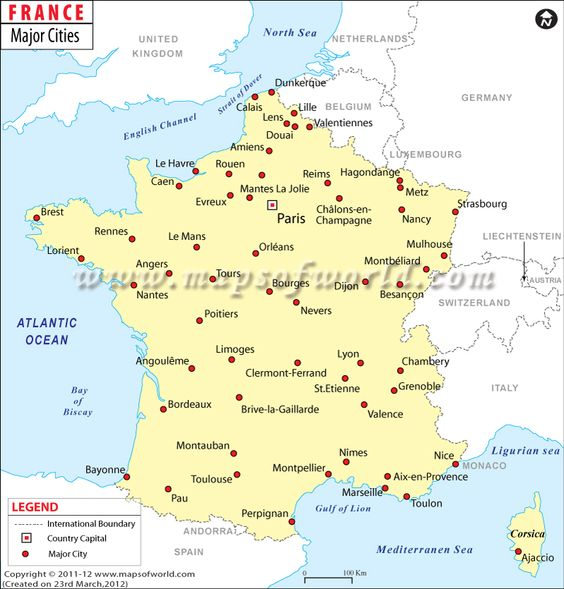 France Major Cities See Where You Can Find The Major Cities Of - Germany map with major cities