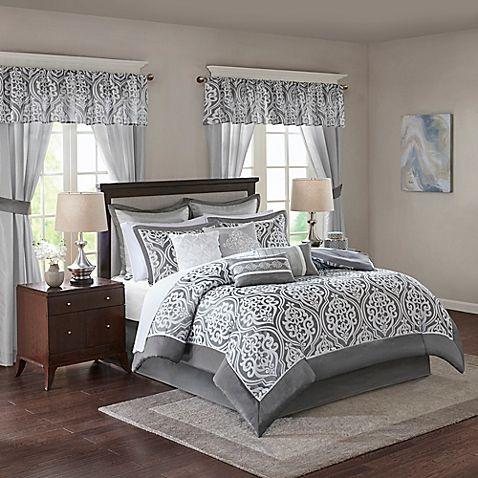 Madison Park Essentials Jordan 24-Piece Comforter Set | Bed Bath & Beyond |  Comfortable bedroom, Bedding sets, Comforter sets