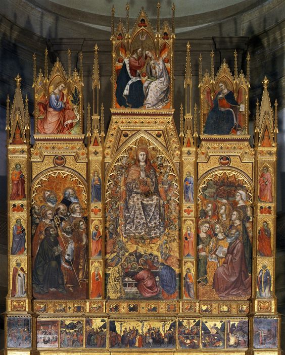 Bartolo,Taddeo di.Montepulciano.Duomo.high altar.Virgin of the Assumption and saints.c.1394-1401 | par arthistory390