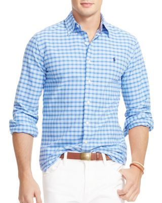 POLO RALPH LAUREN Tattersall Oxford Regular Fit Button Down Shirt. #poloralphlauren #cloth #shirt
