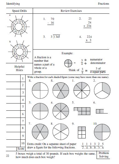 singapore math fractions worksheets - Google Search | ᴹᴬᵀᴴ ...