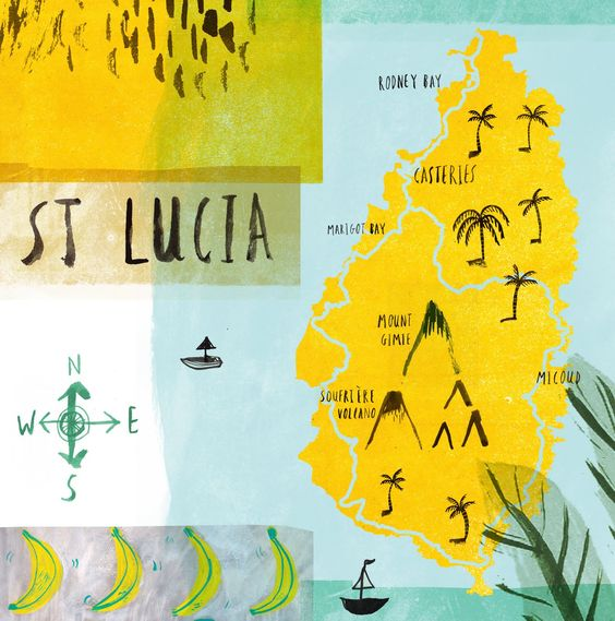 #travelcolorfully st. lucia by laura bird