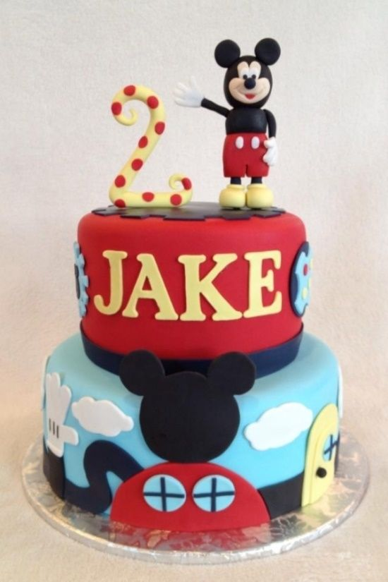 Mickey Mouse Birthday Cake- minus the weird mickey on top