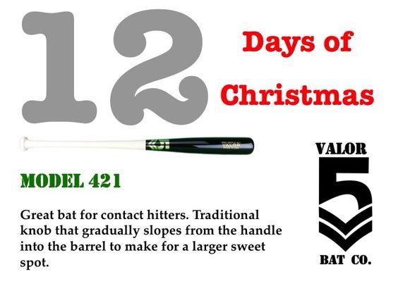 #12DaysOfChristmas #UniqueBats #CustomBats #Baseball #BaseballBats #ContactHitter #421