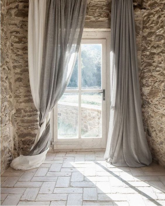Inspiration Karuilu Interior Design Design Create Industrial Raw Materials Neutral Exposed Stone Stone Wall Cur Curtains Home Curtains Home