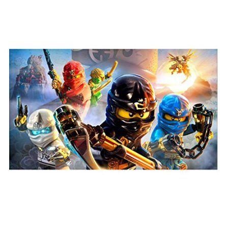 Lego Ninjago Kai Zane Cole Jay Edible Cake Topper Image Walmart Com Lego Ninjago Movie Ninjago Sticker Lego Ninjago