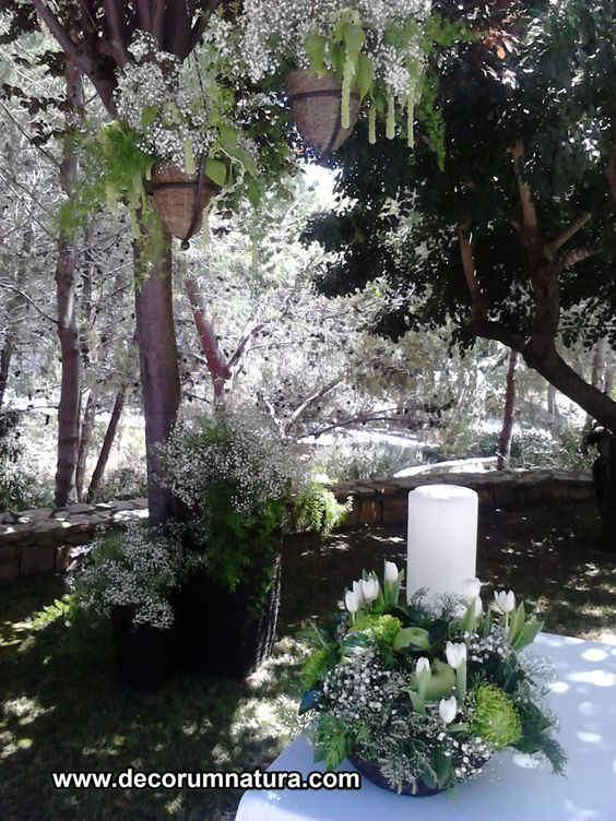 ceremonia en blanco y verde. Green and White ceremony