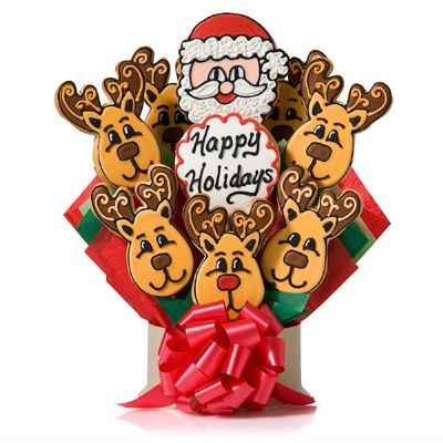 Christmas Reindeer Cookies: Bouquets Google, Reindeer Cookie, Cookie Bouquets, Christmas Cookies Bouquet, Sugar Cookie